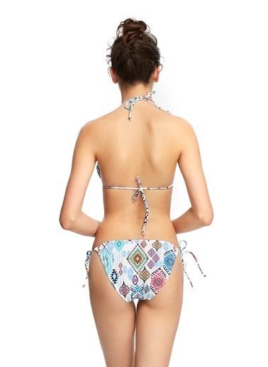 Reflections Mix Match Üçgen Çıkarılabilir Kaplı Desenli Bikini Üst Renkli